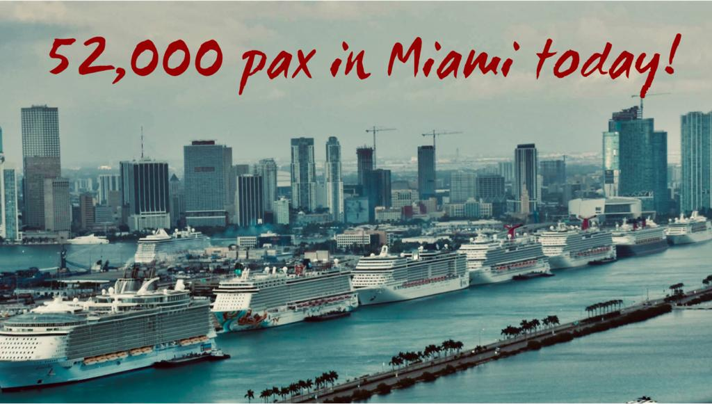 52000 pax in Miami on December 10, 2018